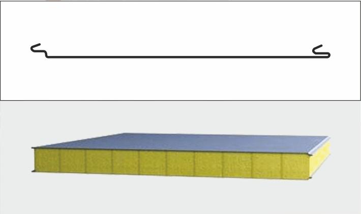 Тип профилирования гладкий (кровельная сэндвич-панель)